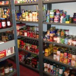 Non-perishable food on shelves