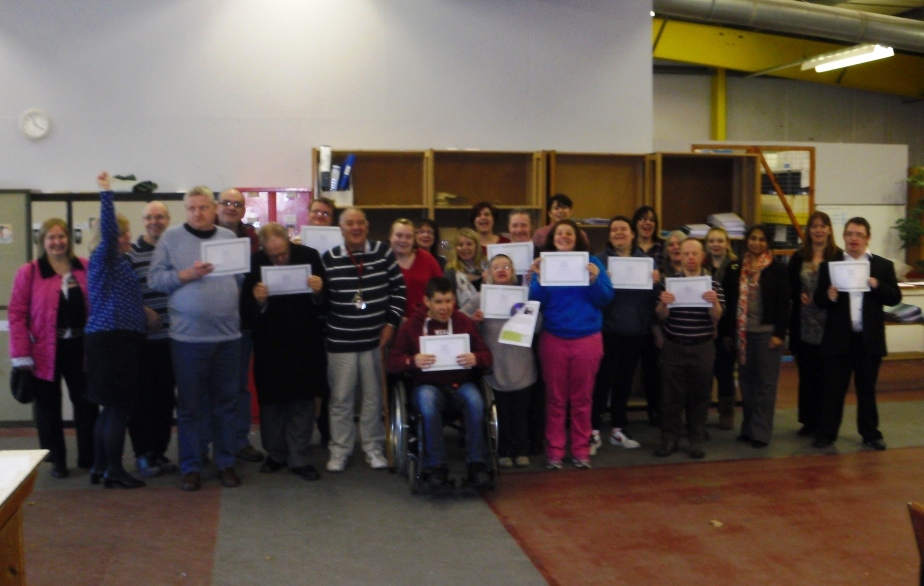 Group photo of A Healthier Me service users