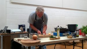 Colin Clydesdale of the Ubiquitous Chip and chair of Real Food, Real Folk cooking demo at the Network Event