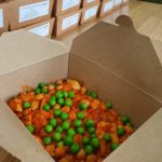 Meal in a box - pasta with peas
