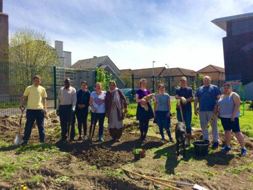 Volunteers at Granton Community Garden